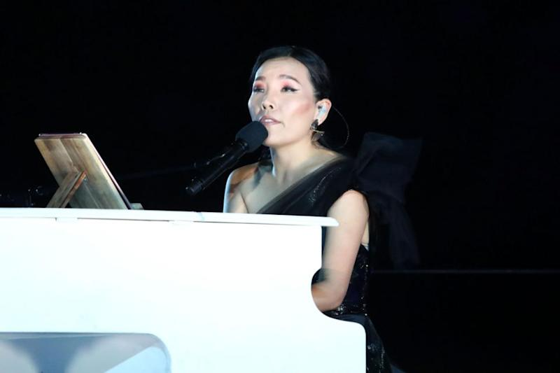 Dami Im on the piano. Source: Getty