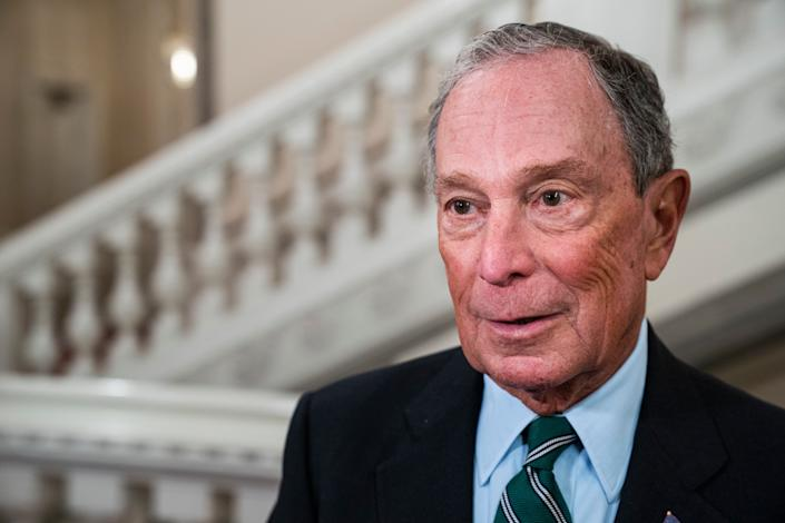 Former New York City Mayor Michael Bloomberg arrives at a dinner of the World Mayors Summit in Copenhagen, Denmark, on Oct. 10. (Photo: Martin Sylvest/EPA-EFE/Shutterstock)