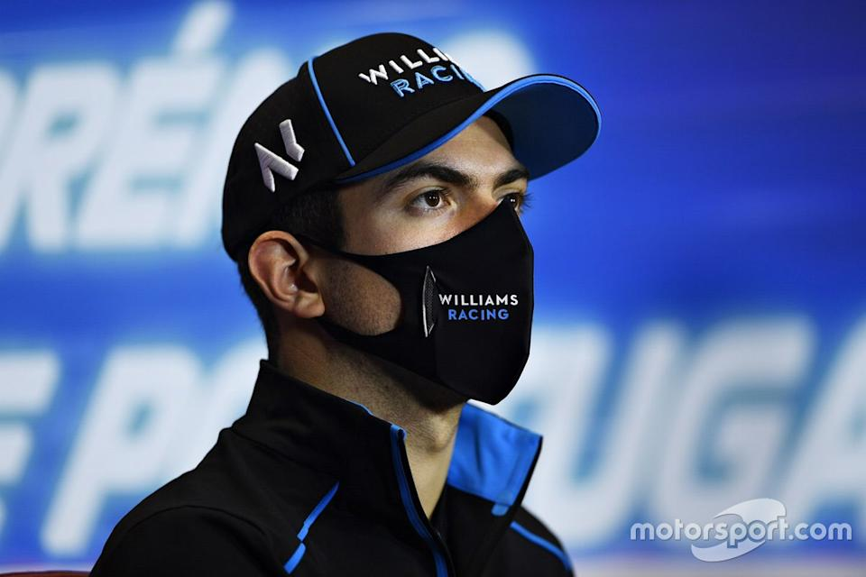 "Nicholas Latifi, Williams Racing, en la conferencia de prensa<span class=""copyright"">FIA Pool </span>"