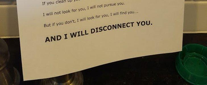 Dad's Taken-Style Note Will Make Every Kid Think Twice Before Leaving Dishes in the Sink