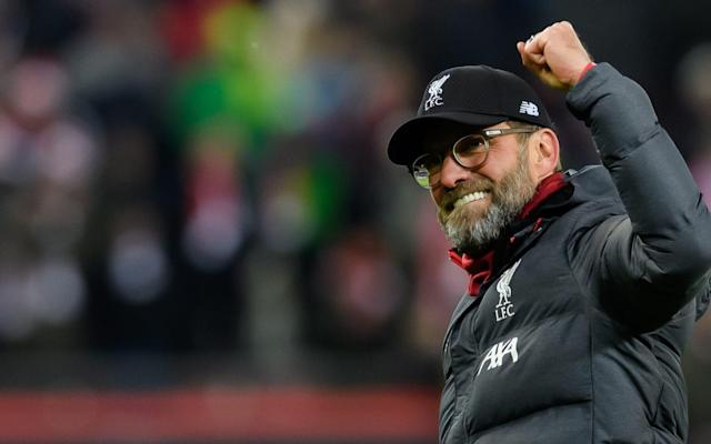 Liverpool manager Jürgen Klopp celebrates after beating Salzburg 2-0 on Tuesday night - Getty Images Europe