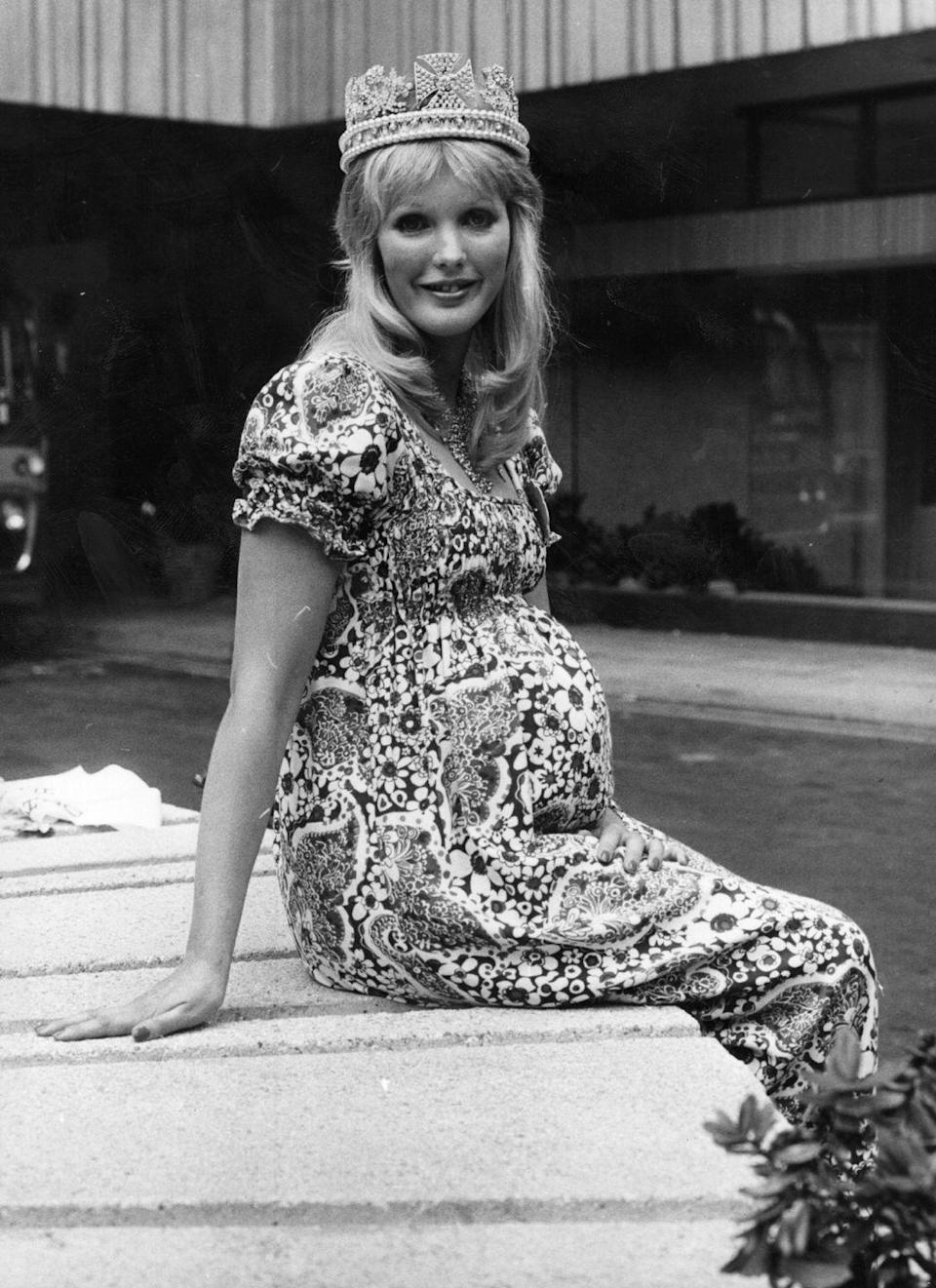 "<p>Behold: Winner of the 1972 ""Mother-to-Be of the Year"" competition.</p>"