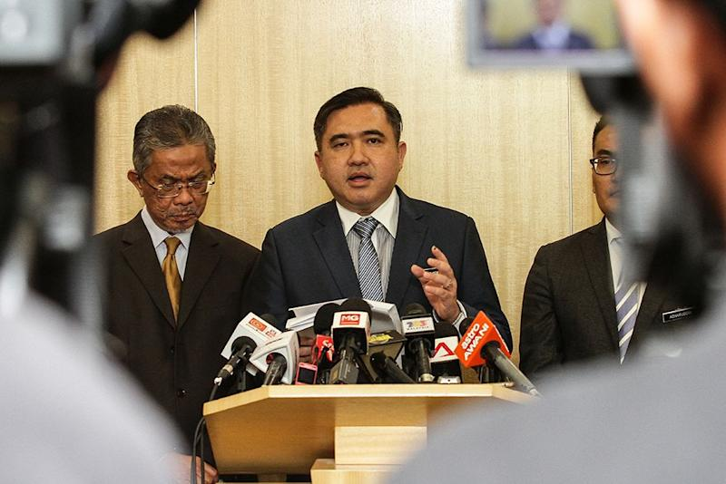 Transport Minister Anthony Loke Siew Fook speaks to reporters during a press conference in Putrajaya on July 11, 2018. — Picture by Miera Zulyana