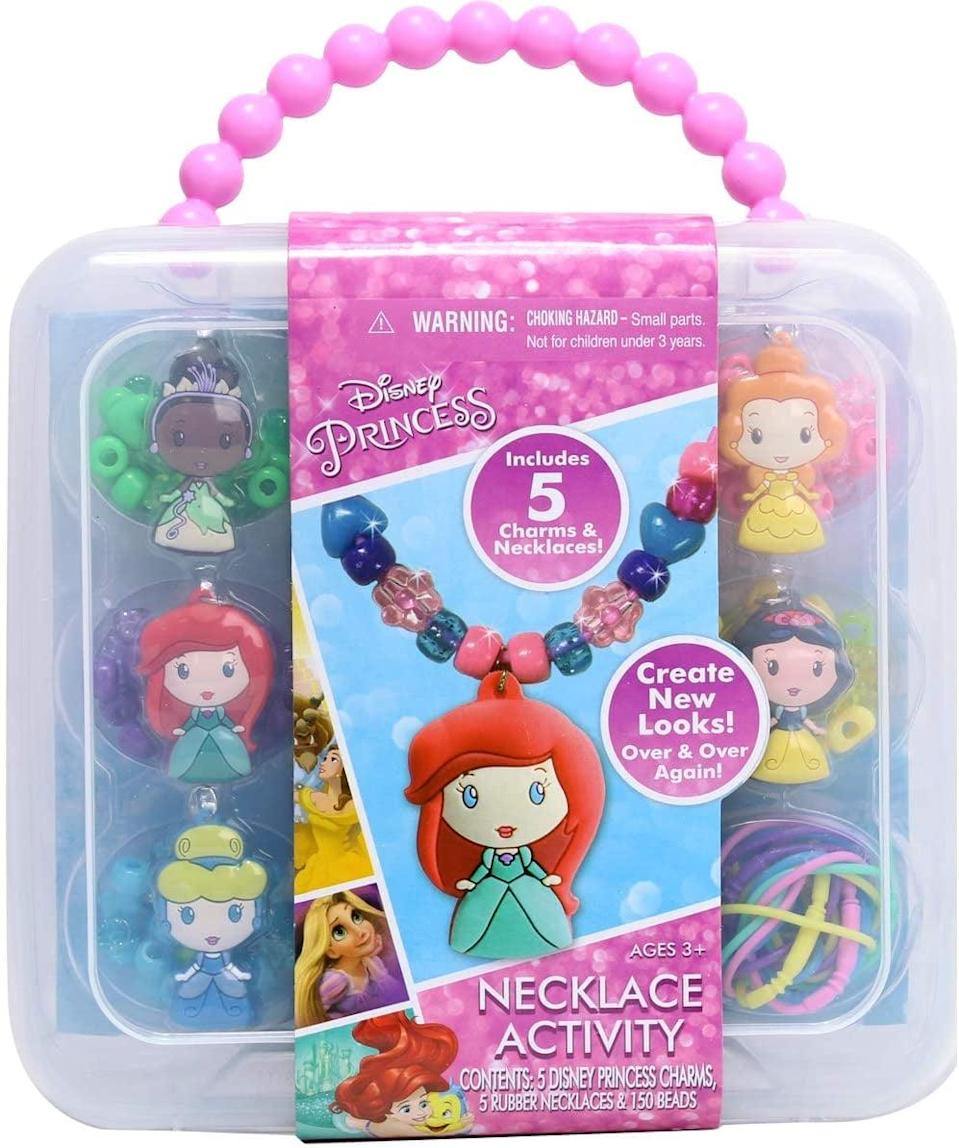 <p>This <span>Tara Toy Disney Princess Necklace Activity Set</span> ($9, originally $12) is fun for everyone. They can make as many necklaces as they want, and then pile them on!</p>