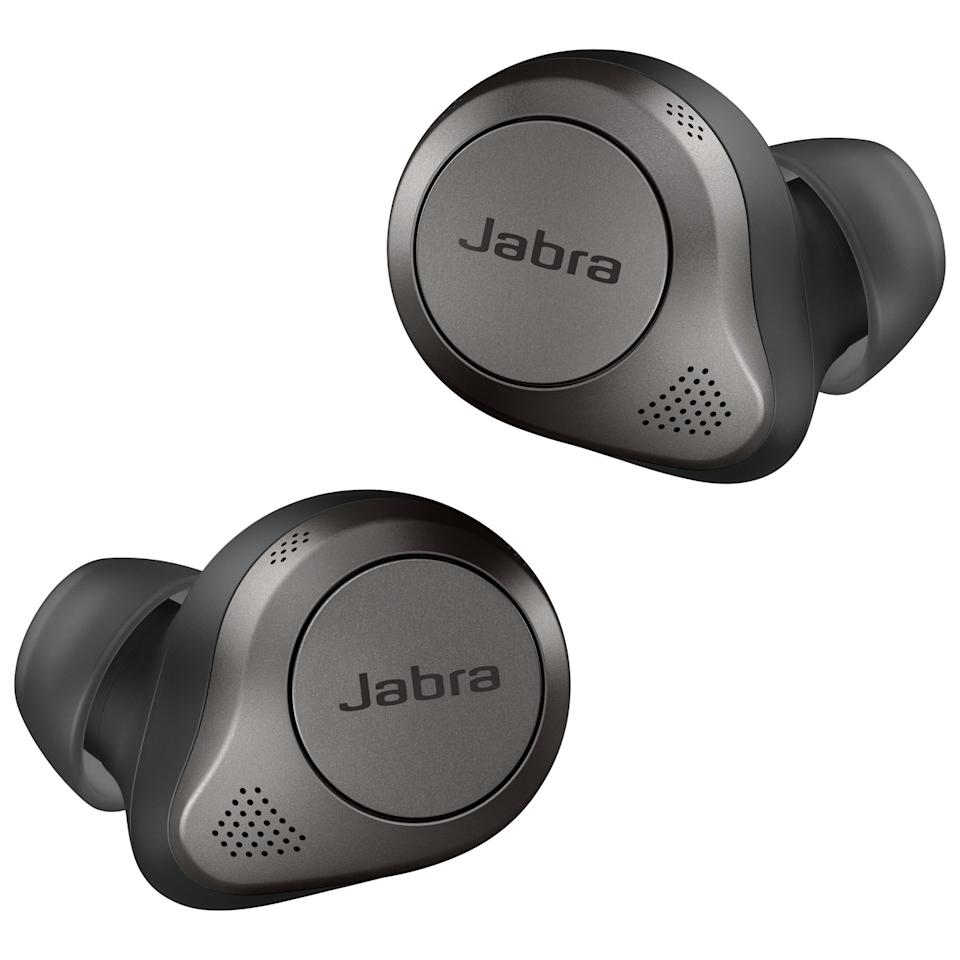 Save $100 on the Jabra Elite 85t In-Ear Noise Cancelling Truly Wireless Headphones. Image via Best Buy.
