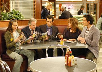 Paula Marshall, Henry Winkler, Ty Burrell, Stockard Channing and Christopher Gorham CBS's Out of Practice