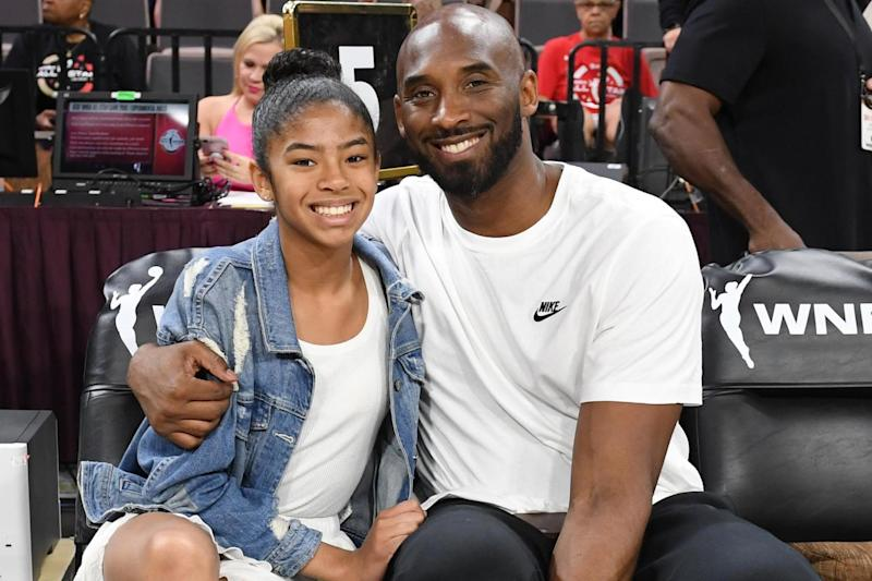 Gianna Bryant and her father, former NBA player Kobe Bryant: Getty Images
