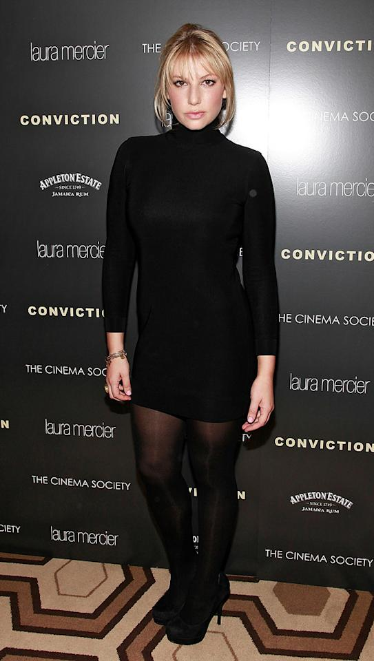 "<a href=""http://movies.yahoo.com/movie/contributor/1808455384"">Ari Graynor</a> at the New York Cinema Society screening of <a href=""http://movies.yahoo.com/movie/1810071450/info"">Conviction</a> on October 12, 2010."