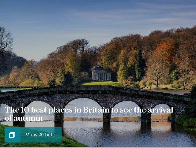 The 10 best places in Britain to see the arrival of autumn