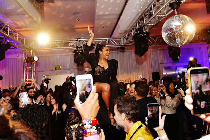 Tiffany Haddish celebrated her bat mitzvah party at SLS Hotel in Beverly Hills, California, on December 3, 2019. (Photo: Getty Images for Netflix)