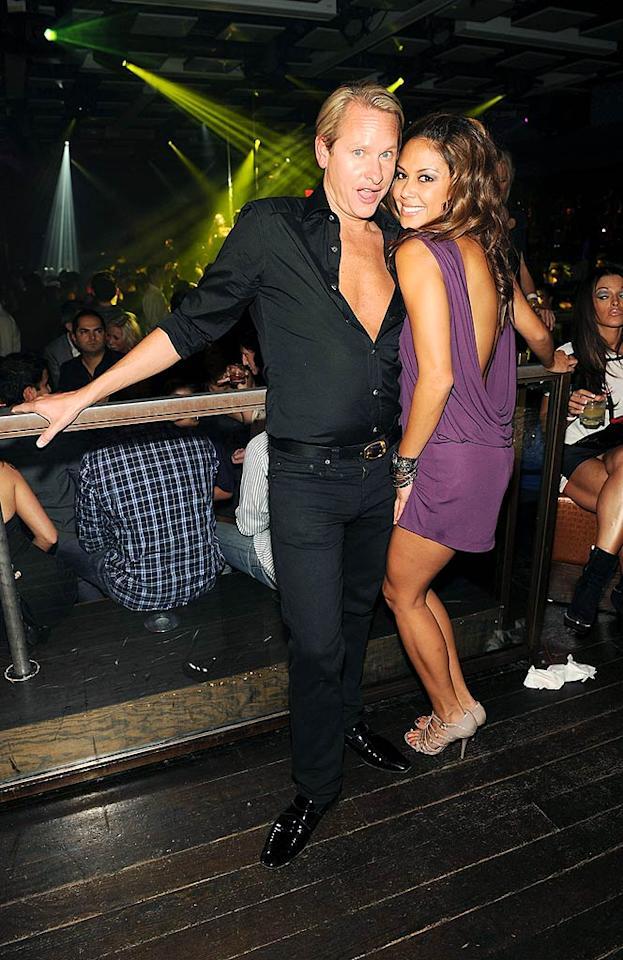 """Vanessa Minnillo cozied up to former """"Queer Eye for the Straight Guy"""" guru, Carson Kressley. Denise Truscello/<a href=""""http://www.wireimage.com"""" target=""""new"""">WireImage.com</a> - October 3, 2009"""