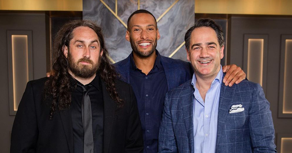 Ross Noble, Josh Gibson and Wippa.