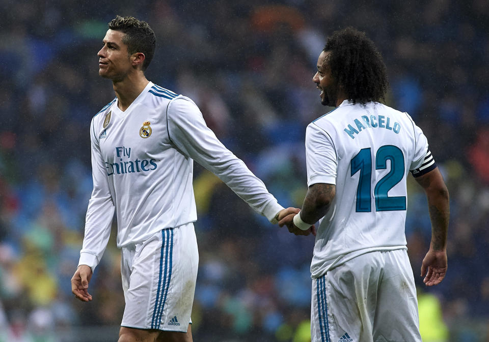 Cristiano Ronaldo and Marcelo have both been prominent figures in Real Madrid's crisis. (Getty)