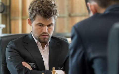 <span>In bad news for other players, chess champ Magnus Carlsen has engaged his giant brain in the pursuit of fantasy football glory</span> <span>Credit: Chris Watt Photography </span>
