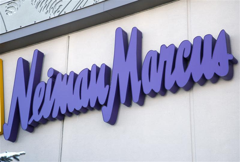 The Neiman Marcus sign outside a store in Golden, Colorado