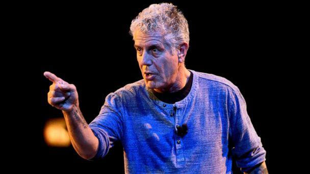 PHOTO: Anthony Bourdain speaks on stage during the Close to the Bone Tour at Auditorium Theatre in this July 30, 2015 file photo in Chicago. (Daniel Boczarski/Getty Images, FILE)