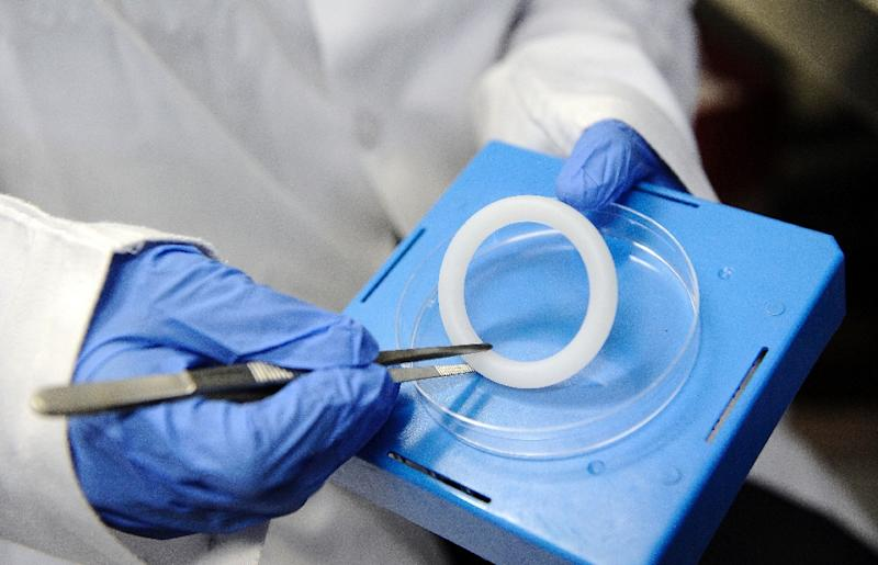 A monthly vaginal ring that contains an anti-retroviral drug has been shown to cut the risk of HIV infection in women by nearly one-third, according to two international studies (AFP Photo/Stephane De Sakutin)