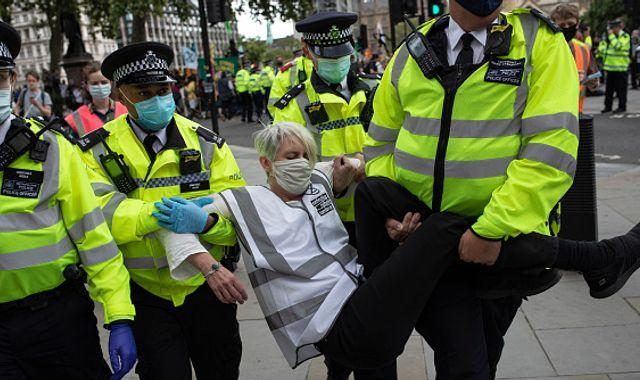 Police chief calls Extinction Rebellion a 'nuisance' as they 'go floppy' during arrests