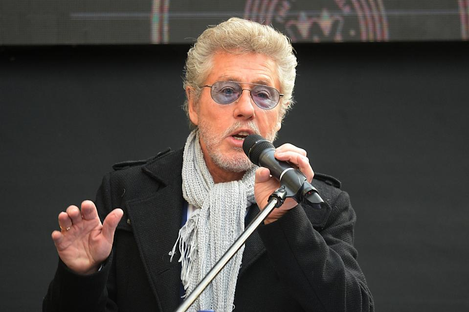 Roger Daltrey speaks during the Music Walk Of Fame Founding Stone Unveiling at on November 19, 2019 in London, England. (Photo by Dave J Hogan/Getty Images)