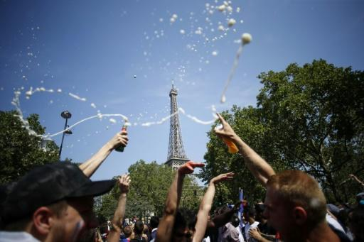 France supporters began revelling in Paris hours ahead of the match, with the Eiffel Tower fanzone opening four hours before kickoff
