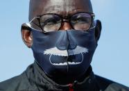 Coach Joseph Omirok from South Sudan attends a training session in preparation for the Tokyo 2020 Olympic and Paralympic Games amid the coronavirus disease (COVID-19) outbreak, in Maebashi