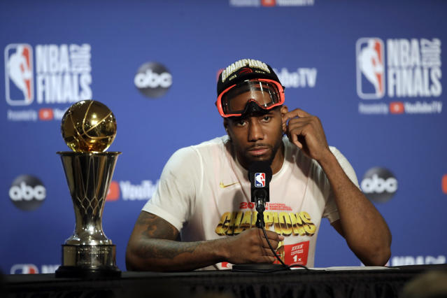 People are getting antsy over Kawhi Leonard's destination in free agency. (AP Photo/Ben Margot)
