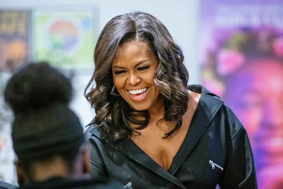Michelle Obama visits the Lower Eastside Girls Club in New York City on Dec. 1 to discuss her new book, <em>Becoming</em>. (Photo: Roy Rochlin/Getty Images)