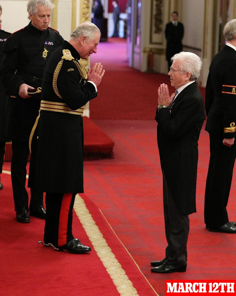 Charles at the investiture ceremony (PA)