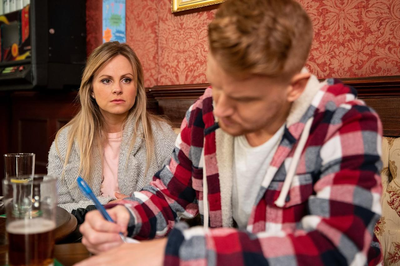 <p>Will she confront him over his sneaky behaviour?</p>
