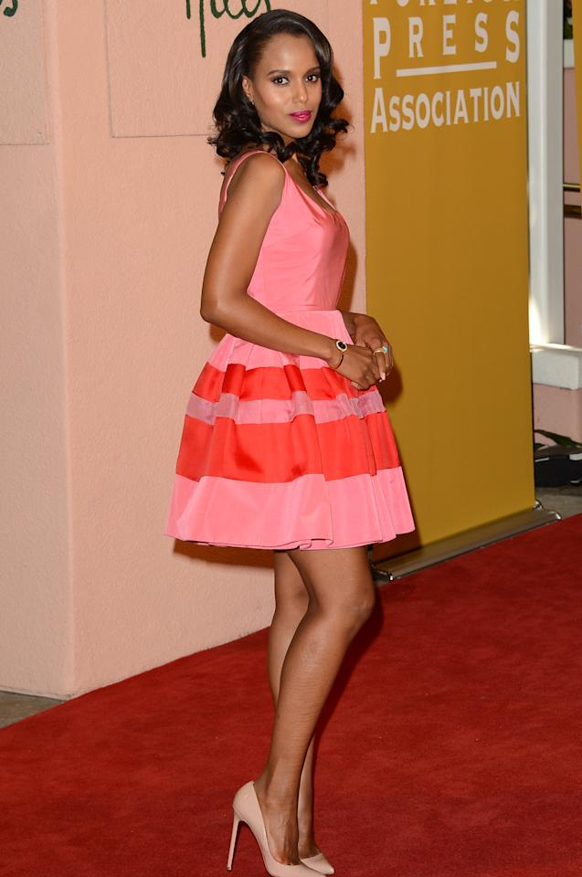 BEVERLY HILLS, CA - AUGUST 09:  Actress Kerry Washington arrives at the Hollywood Foreign Press Association's 2012 Installation Luncheon held at the Beverly Hills Hotel on August 9, 2012 in Beverly Hills, California.  (Photo by Jason Merritt/Getty Images)