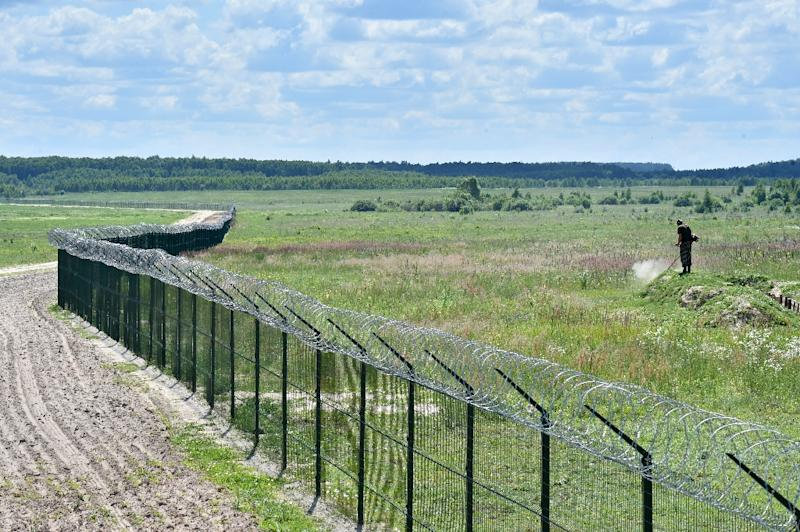 Ukraine began work on the barrier in September last year but the project has been delayed by its enormous cost to the cash-strapped state (AFP Photo/Sergei Supinsky)