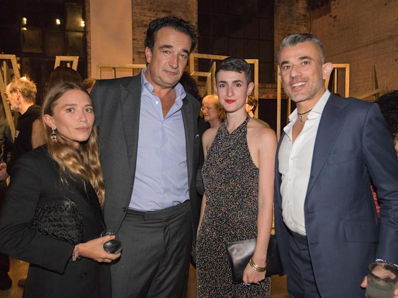 Mary-Kate Olsen, Olivier Sarkozy, and Justine Ludwig at the 2018 Creative Time Gala in Bushwick, Brooklyn, October 2018.