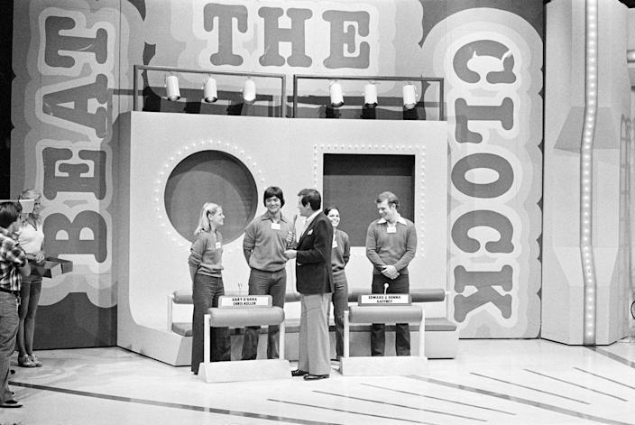<p><em>Beat the Clock </em>originally started on radio in 1948 before moving to CBS primetime in 1950. It involved contestants trying to finish challenges before time ran out on the clock. The premise was similar to the more recent show, <em>Minute to Win It. </em><em>Beat the Clock </em>had a long history, with revivals airing on daytime and primetime until 1980. In 2018, the show was revived to feature children and adults competing as teams. </p>