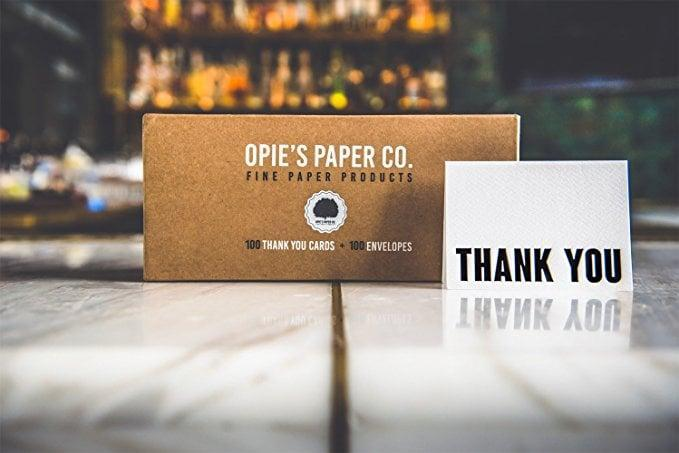 <p>This may be an unexpected gift, but they'll get tons of use out of these <span>100 Letterpress Thank You Cards</span> ($24, originally $26).</p>