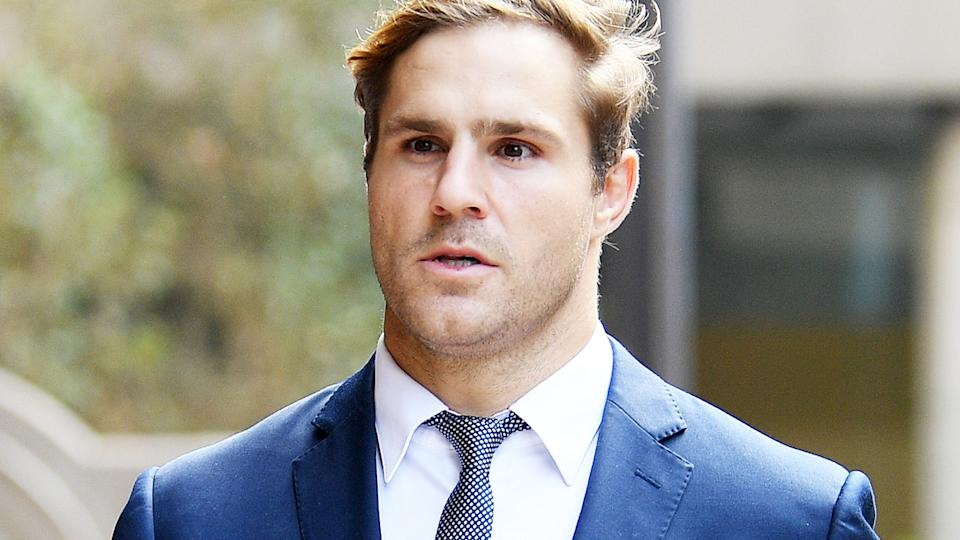 Jack de Belin, pictured here arriving at the Downing Centre District Court in Sydney.