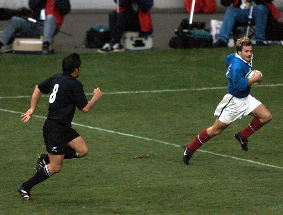 Dominci scored a try in France's famous 1999 World Cup victory over New ZealandAFP via Getty