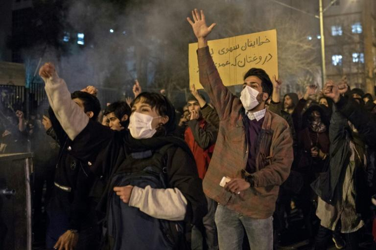 Iranians have held three straight days of protests over the authorities' handling of the disaster (AFP Photo/STR)