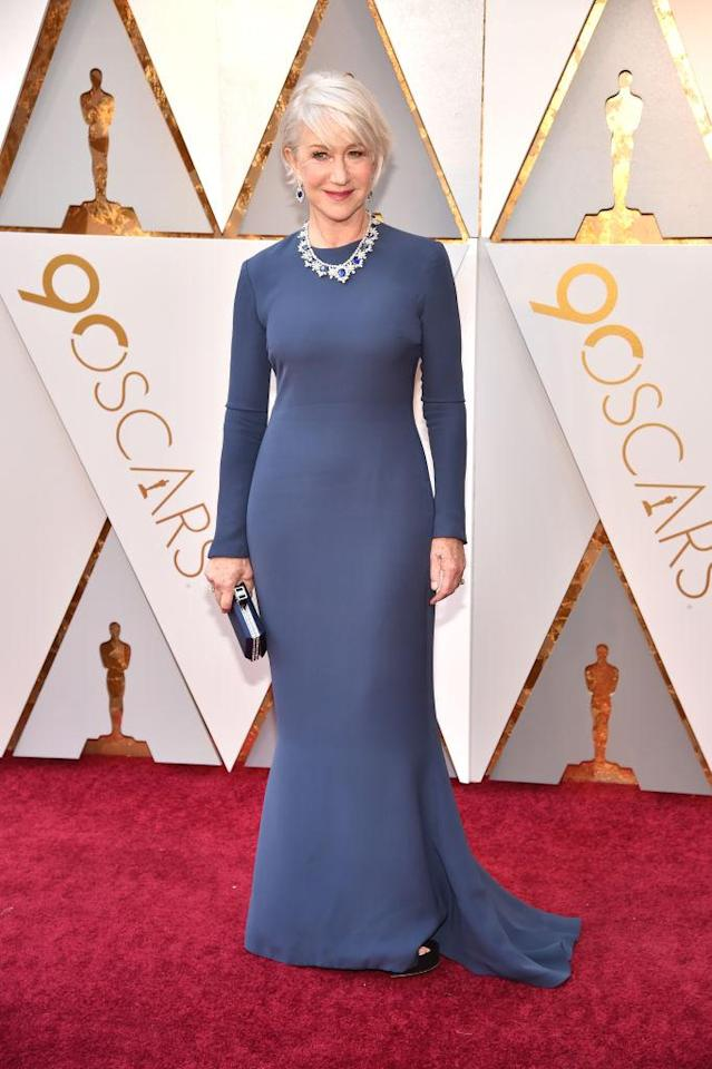 <p>Helen Mirren attends the 90th Academy Awards in Hollywood, Calif., March 4, 2018. (Photo: Getty Images) </p>