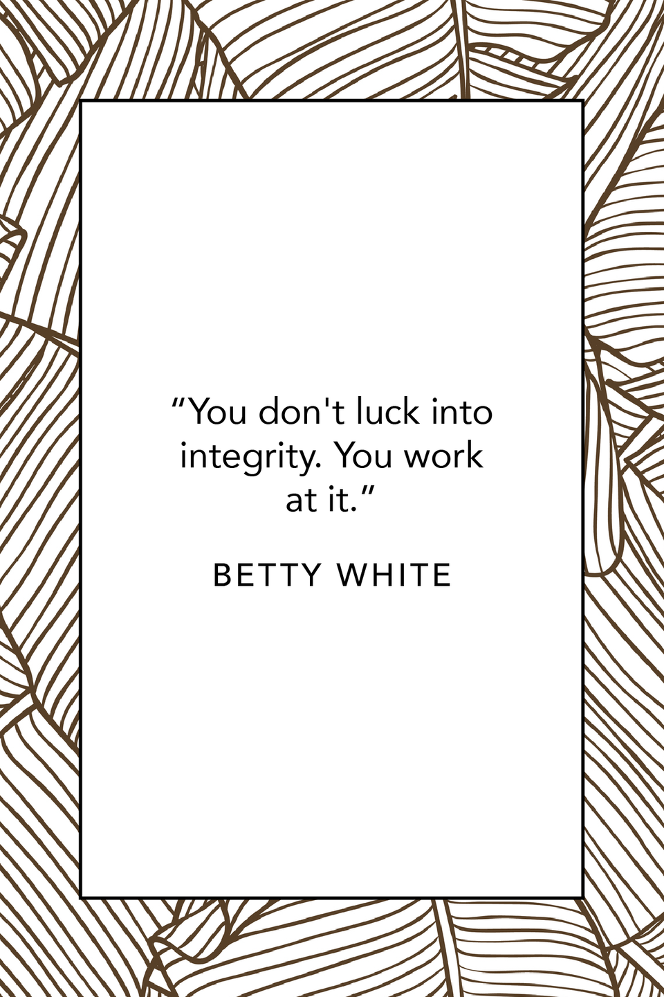 """<p>And she goes on to write, """"You don't luck into integrity. You work at it.""""<br></p>"""