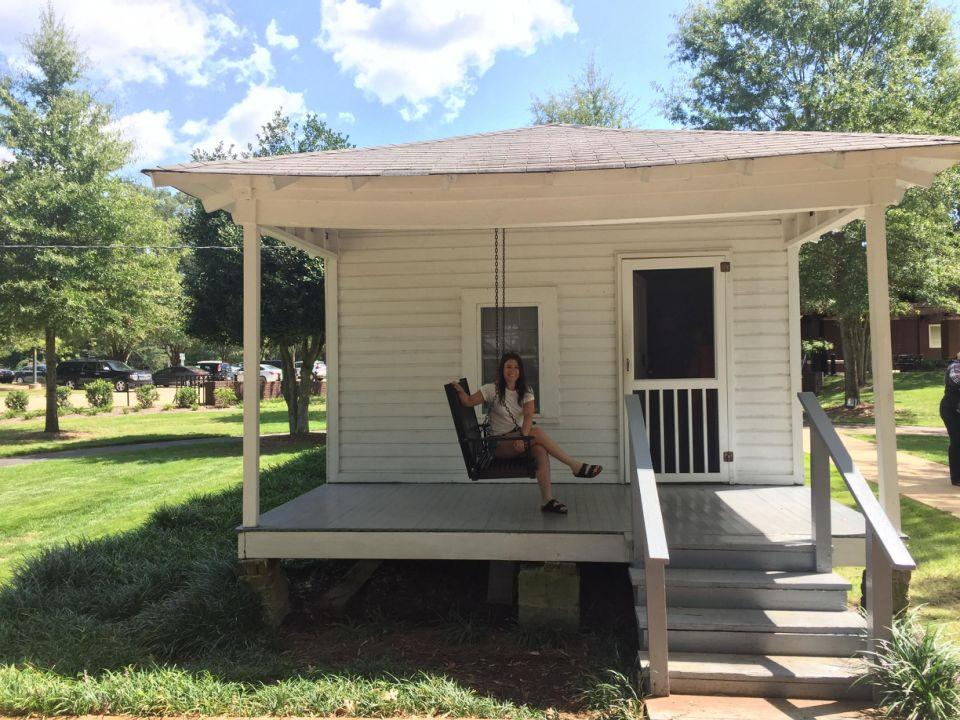 Seeing the tiny home where Elvis was born was extremely moving. Source: Supplied