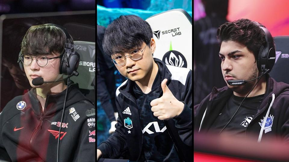 From left to right: T1's Lee