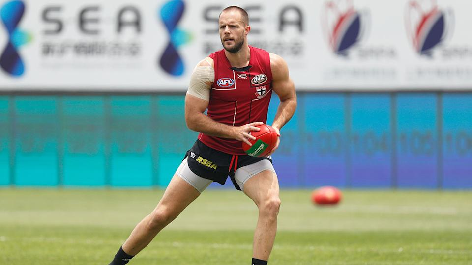 Seen here, Nathan Brown in training for St Kilda.