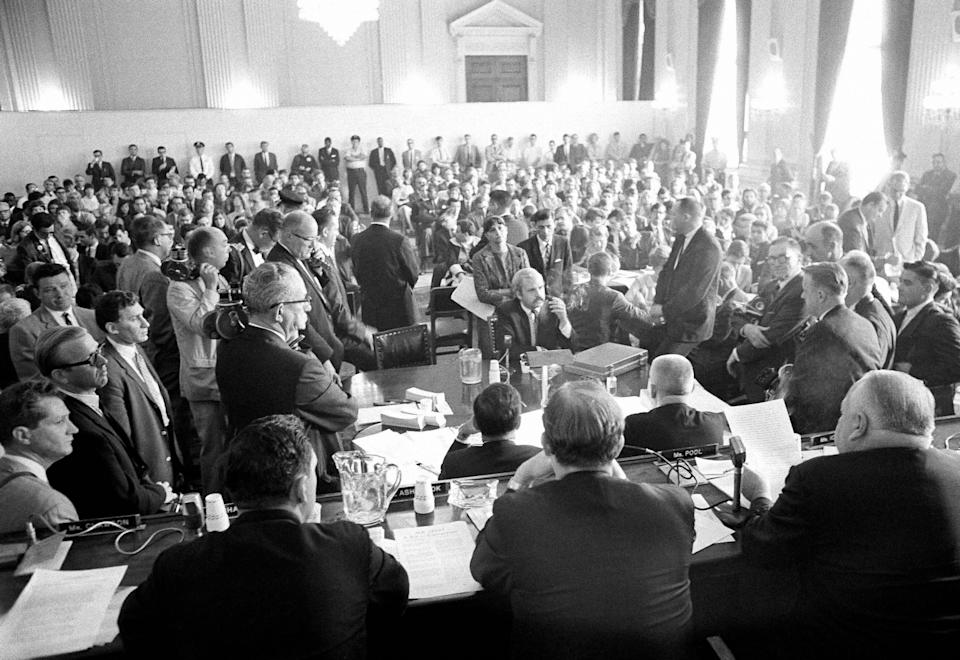 The House Un-American Activities Committee (pictured here in 1966) was a major actor in the mid-20th century anti-communism hysteria. (Photo: ASSOCIATED PRESS)