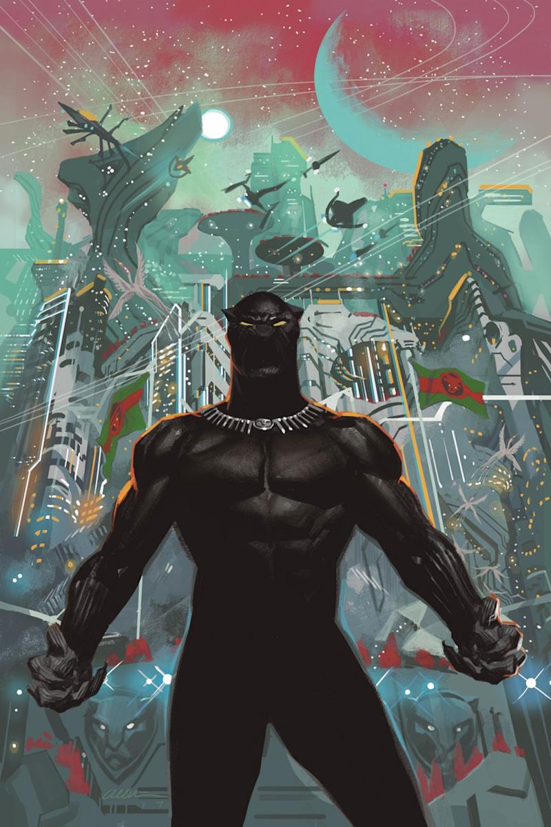 Marvel Relaunch Of Black Panther Comic Sends Tchalla To Space