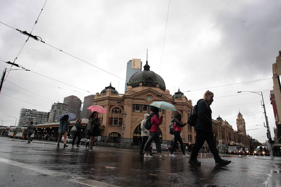 Melbourne can look forward to showers and temperatures below 20C over the weekend. Source: AAP