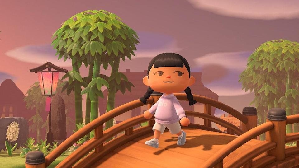 Image from the Tatchaland X Alo Yoga X Animal Crossing collaboration.
