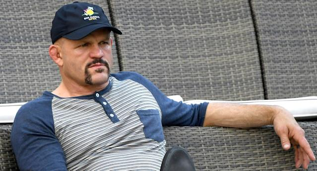 Retired mixed martial artist and former UFC light heavyweight champion Chuck Liddell attends the BNP Paribas Open on March 12, 2018, in Indian Wells, California. (Getty Images)