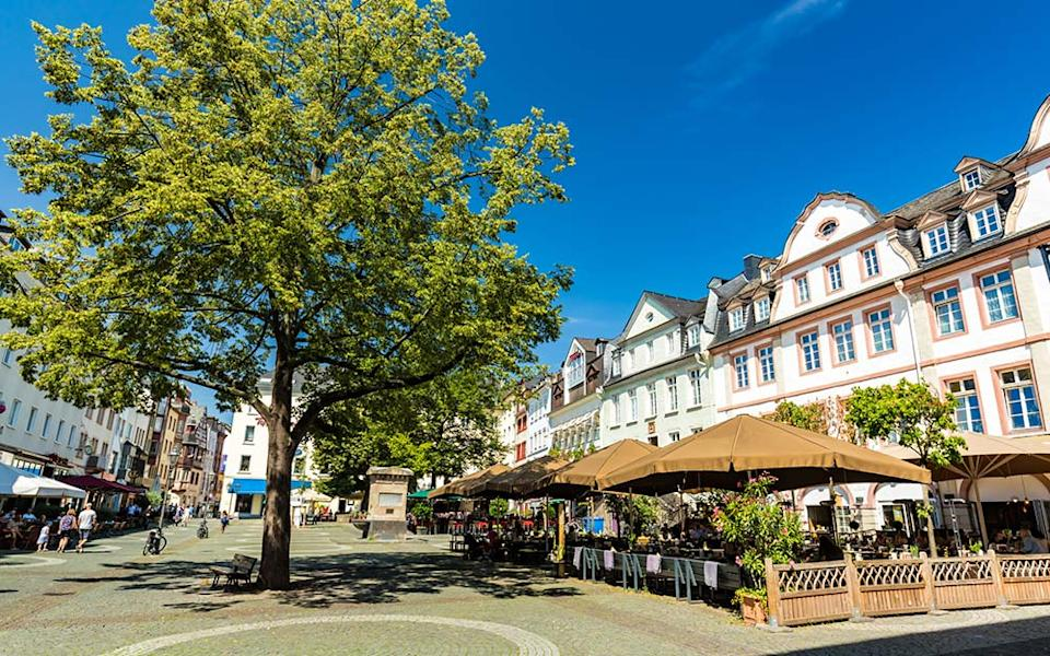 """""""I savour Koblenz's re-emergence into normal life – bustling outdoor cafés where Black Forest cake is eaten without fear."""" - istock"""