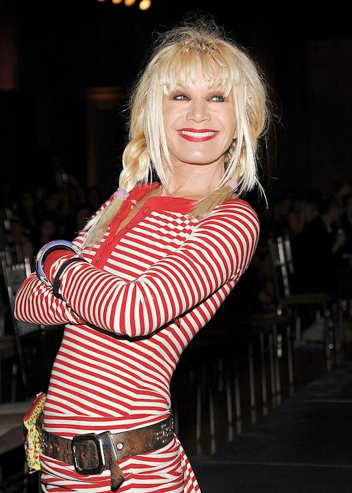 """Flamboyant fashion designer Betsey Johnson also fought the disease and won. She's now a strong breast cancer advocate who takes part in fundraising events and creates one-of-a-kind items that are auctioned off for charity. Jamie McCarthy/<a href=""""http://www.wireimage.com"""" target=""""new"""">WireImage.com</a> - June 26, 2009"""