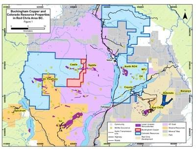 Buckingham Copper and Colorado Resources Properties in Red Chris Area BC- Figure 1 (CNW Group/Buckingham Copper Corp.)